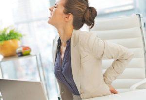 Боль в спине при сидячей работе
